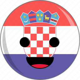 awesome, country, croatia, cute, face, flags icon