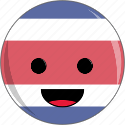 awesome, costa, cute, face, flags, latino, rica icon