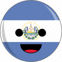 awesome, country, cute, face, flags, latino, salvador icon