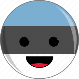 awesome, country, cute, estonia, face, flags icon