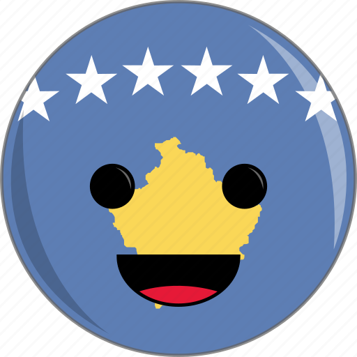 awesome, countries, country, cute, face, flags, kosovo icon
