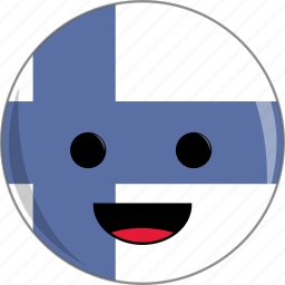 awesome, country, cute, face, finland, flags icon