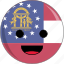 awesome, country, cute, face, flags, georgia icon