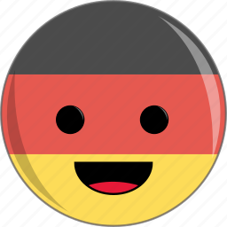 awesome, country, cute, face, flags, germany icon