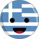 awesome, country, cute, face, flags, greece icon