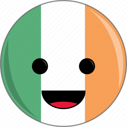 awesome, country, cute, face, flags, ireland icon