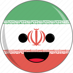 awesome, country, cute, face, flags, iran icon