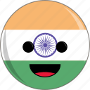 awesome, countries, country, cute, face, flags, india icon
