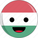 awesome, countries, country, cute, face, flags, hungary icon
