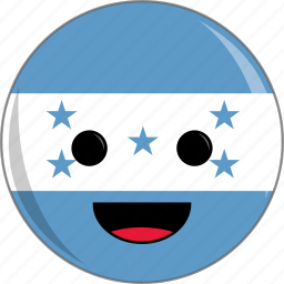 awesome, country, cute, face, flags, honduras icon