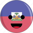 awesome, country, cute, face, flags, haiti icon