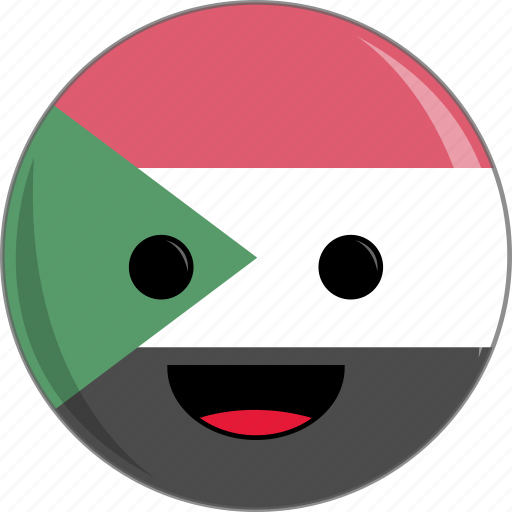 awesome, countries, country, cute, face, flags, sudan icon