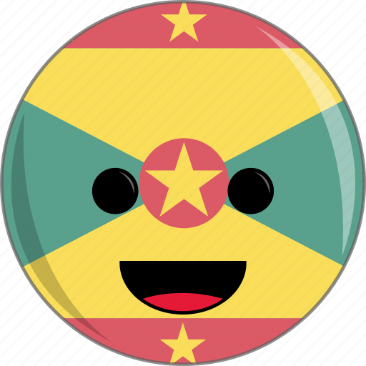 awesome, countries, country, cute, face, flags, grenada icon