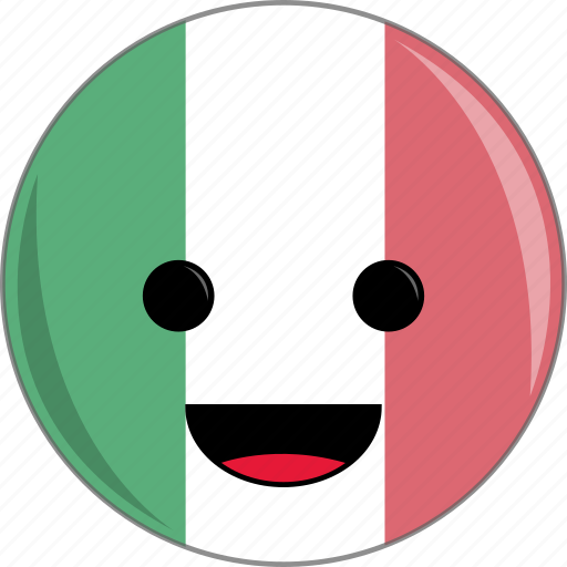 awesome, cute, face, flags, food, italian, italy icon