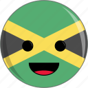 awesome, country, cute, face, flags, jamaica icon