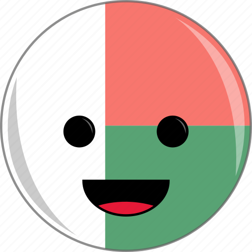 awesome, country, cute, face, flags, madagascar icon