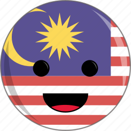 awesome, country, cute, face, flags, malaysia icon