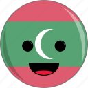 awesome, countries, country, cute, face, flags, maldives icon