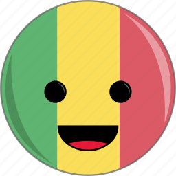 awesome, country, cute, face, flags, mali icon