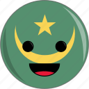 awesome, countries, country, cute, face, flags, mauritania icon