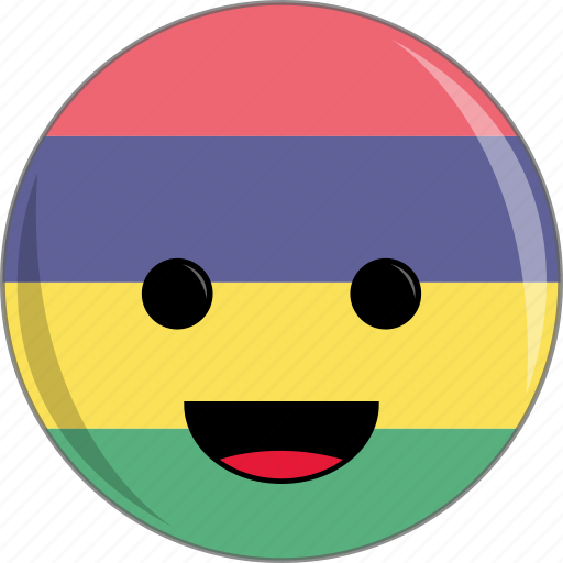 awesome, country, cute, face, flags, mauritius icon