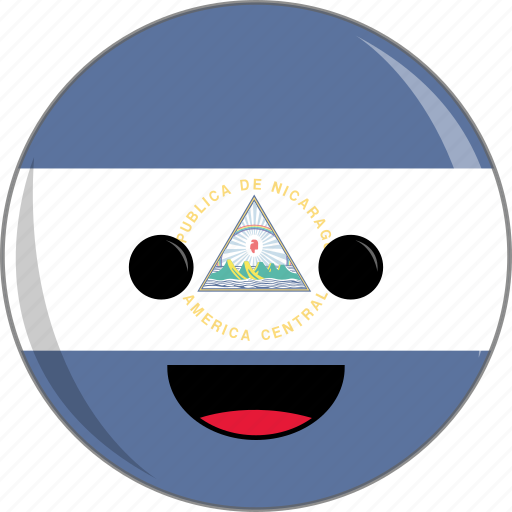 awesome, country, cute, face, flags, latino, nicaragua icon