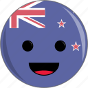 awesome, country, cute, face, flags, new, zealand icon