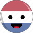 awesome, country, cute, face, flags, netherlands icon