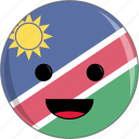 awesome, country, cute, face, flags, namibia icon