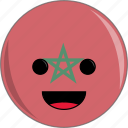 awesome, country, cute, face, flags, morroco icon