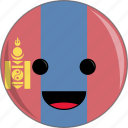 awesome, country, cute, face, flags, mongolia icon