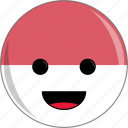 awesome, country, cute, face, flags, indonesia icon
