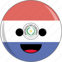 awesome, country, cute, face, flags, latino, paraguay icon
