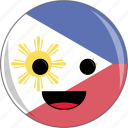 awesome, country, cute, face, flags, philippines icon
