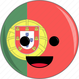 awesome, country, cute, face, flags, portugal icon