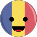awesome, country, cute, face, flags, rumania icon