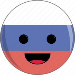 awesome, country, cute, face, flags, russia icon