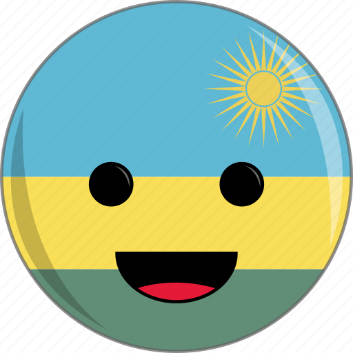 awesome, country, cute, face, flags, rwanda icon