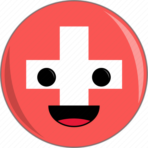awesome, country, cute, face, flags, switzerland icon