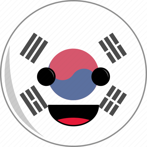 awesome, country, cute, face, flags, korea, south icon