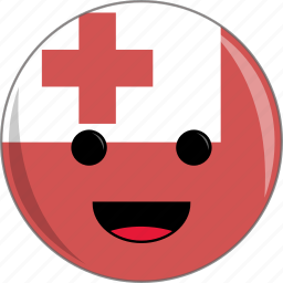 awesome, country, cute, face, flags, tonga icon