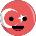 awesome, country, cute, face, flags, turkey icon