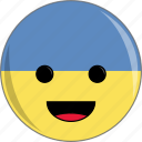 awesome, country, cute, face, flags, ukraine icon