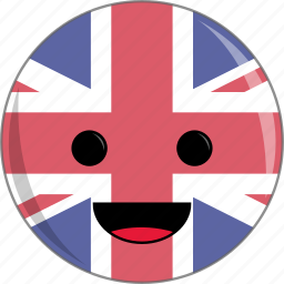 awesome, cute, face, flags, kindgom, uk, united icon