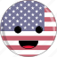 awesome, cute, face, flags, peace, states, united icon