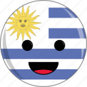 awesome, country, cute, face, flags, latino, uruguay icon