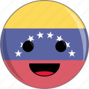 awesome, cute, face, flags, latino, venezuela icon
