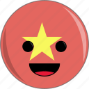 awesome, country, cute, face, flags, vietnam icon