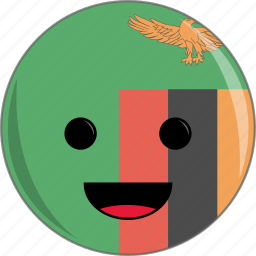 awesome, country, cute, face, flags, zambia icon