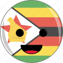 awesome, country, cute, face, flags, zimbabwe icon
